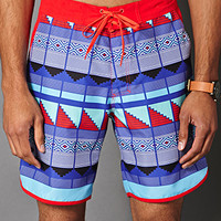 Geo Print Swim Trunks Tomato/Purple X-Small