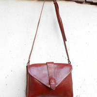 Vintage AWEILIE Leather Purse , Crossbody , Shoulder Bag // Medium