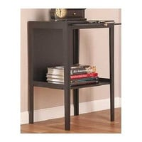 End Table Black Ebony Wooden Side Stand Wood Furniture Writer Entry Shabby Chic