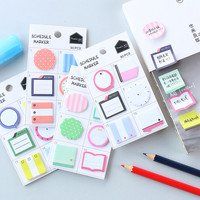 1 x Creative lovely mini memo pad paper Post-it notes sticky notes notepad kawaii children stationery school supplies kids gifts