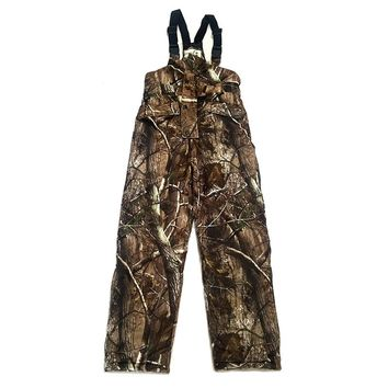 Winter Men's Bionic Tactical Hunting Camouflage Pants Outdoor Sports Male Camo Warm Trousers For Fishing Camping Hiking Pants