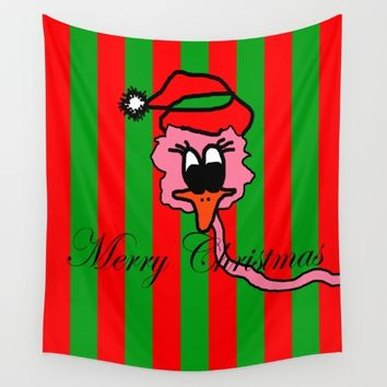 Christmas Pink Duck | The Duck that he thought it was swans Wall Tapestry by Azima