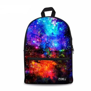Supreme Multicolor Canvas Galaxy Star Universe Space Backpacks
