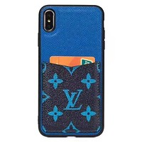 LV new printed letter card iPhone X case cover