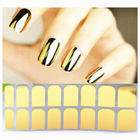 Shiny Metallic Glossy Nail Stickers
