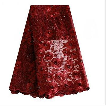 2018 Beautiful Mesh Material Africa  Nigerian French Tulle Lace 5 yd lots