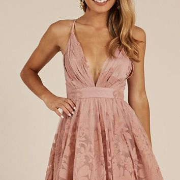 Moon Beam dress in blush Produced By SHOWPO