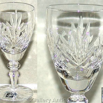 "Vintage Edinburgh International Crystal Similar to Stirling Pattern Crystal Cut 5 1/8"" Tall Sherry or Port Glass early 1990's (ref: 3177)"