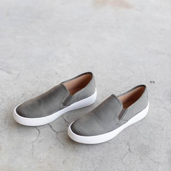 Slip On Sneakers, Olive