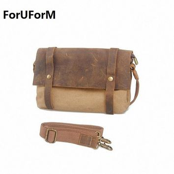Hot Vintage Men's Travel Bags small Men Messenger Bags Canvas Bag Man Cross Body Bags New Free Shipping LI-1046