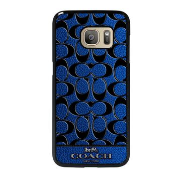 COACH NEW YORK BLUE Samsung Galaxy S7 Case