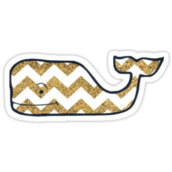 Glitter Chevron Vineyard Vines Whale by Csturges07