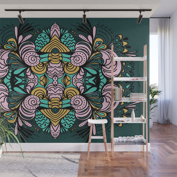 Ornamental Wall Mural by duckyb