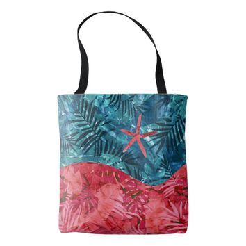 Summer Beach Tropical Pattern Tote Bag