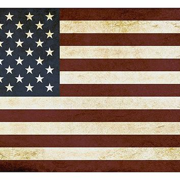 The American Flag Picture on Large Canvas Hung on Copper Rod, Ready to Hang, Wall Art Décor