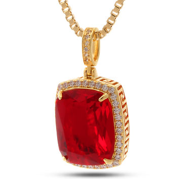 14K Gold Ruby Crown Julz Necklace