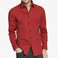MODERN FIT 1MX STRETCH COTTON SHIRT from EXPRESS
