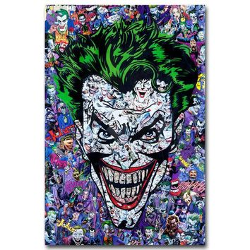The Joker Art Silk Wall Poster