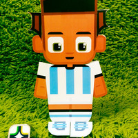 Argentina football soccer craft activity. Printable paper toy. Instant download. Make you own cards, banners and football soccer bunting!