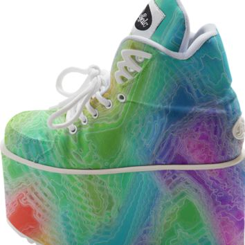 Frozen Rainbow Buffalo Platform Shoe created by KCavender | Print All Over Me