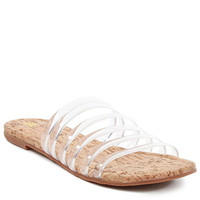 For You Clear Slide Sandal