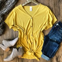 Echoes Of My Heart Top - Mustard