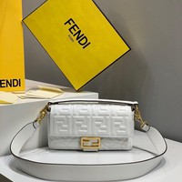 Fendi Fashion White Women Leather Crossbody handbags Shoulder Bag