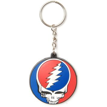 Grateful Dead Steal Your Face Rubber Key Chain Multi