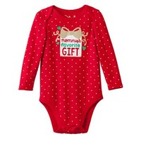 Baby Girl Jumping Beans® Polka Dot Holiday Bodysuit