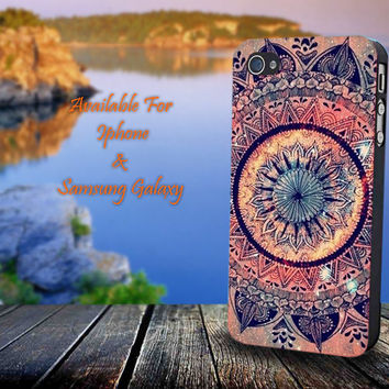Mandala Pattern - Print on hard plastic for iPhone case. Please choose the option.