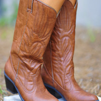 Restock: Thatta Cowgirl Boots: Cognac | Hope's