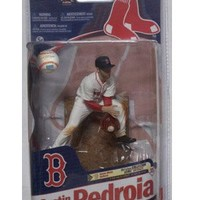 McFarlane Toys MLB Sports Picks Series 27 Action Figure Dustin Pedroia (Boston Red Sox) White Jersey Bronze Collector Level Chase
