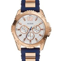 Blue and Rose Gold-Tone Active Midsize Sport Watch