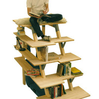 Tiered Shelving - Malin Kallman?s Bookcase Has Both Storage and Seating (GALLERY)