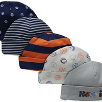 Gerber Baby-Boys Cap, Sports, 0-6 Months (Pack of 5)