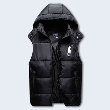Polo Ralph Lauren Hooded Warm Vest Waistcoat Cardigan Jacket Coat-1