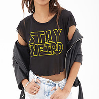 Stay Weird Sheer Tee