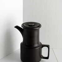 Vintage coffee pot - Doverstone Made in England - Staffordshire Heather Gates espresso brown