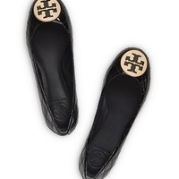 Tory Burch Quinn Patent Quilted Flat