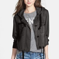 BP. Hooded Crop Chambray Jacket (Junio