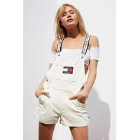 Tommy Jeans '90s Shortall Overall   Urban Outfitters