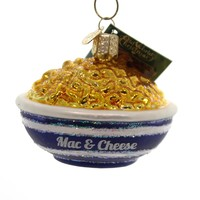 Old World Christmas Bowl Of Mac & Cheese Glass Ornament