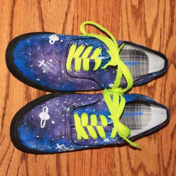 Galaxy Shoes (like Vans) Hand painted