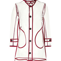 Wanda Nylon - Transparent Rain Coat with Piping