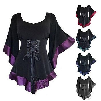 Tunic Long Gothic Punk Vintage Blouse