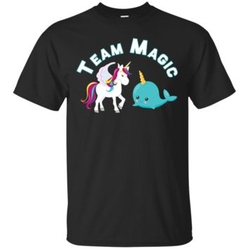 Team Magic Unicorn Narwhal Squad T-Shirt Cute Chubby Rainbow T-shirt