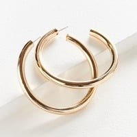 Large Hollow Hoop Earring | Urban Outfitters