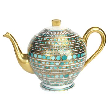 Syracuse Turquoise Coffee and Tea Service