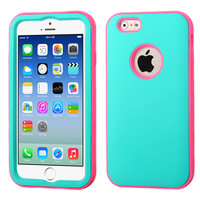 MYBAT VERGE Hybrid iPhone 6 Case - Teal Green/Lightning Pink