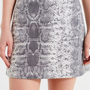 UO Snakeskin Print Mini Skirt | Urban Outfitters